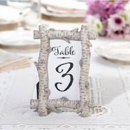 Faux Birch Table Number Frame/Photo Frame