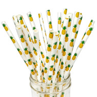 Pineapple Eco-Friendly Paper Straws {Package of 25}