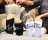 """Love You, Love You Too"" Sock Set"