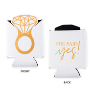 She Said Yes! Neoprene Can Koozie