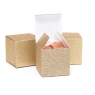 Gold Glitter Favor Boxes {Package of 25}