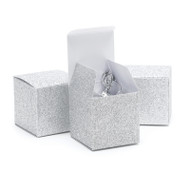 Silver Glitter Favor Boxes {Package of 25}