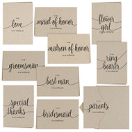 Wedding Party Thank You Card Set in Kraft {Package of 30 Cards/Envelopes}