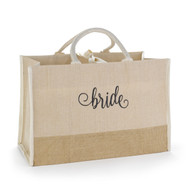 Bride Natural Jute Large Tote Bag