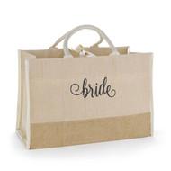 Bride Natural Jute Large Tote Bag