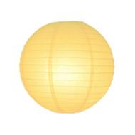 Light Yellow Round Paper Lantern