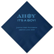 AHOY It's a Boy! Personalized Baby Shower Napkins (Pack of 100)