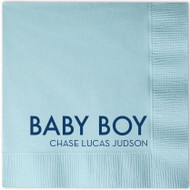 BABY BOY (Name) Personalized Napkins (Pack of 100)