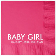BABY GIRL (Name) Personalized Napkins (Pack of 100)