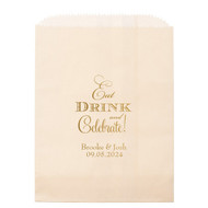 Eat, Drink and Celebrate! Personalized Candy Bag