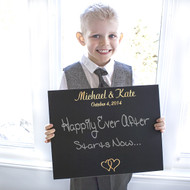 Personalized Ring Bearer Wedding Chalkboard Sign