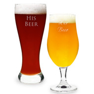 Custom His and Hers Pilsner Glass Set