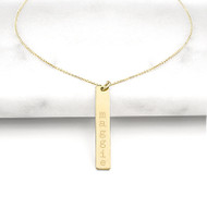 Gold Personalized Vertical Bar Necklace