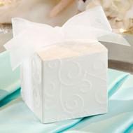 Flocked Swirl Design Favor Box Kit (Set of 24)
