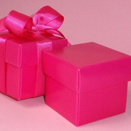 Fuchsia Square Box with Lid (Set of 10)
