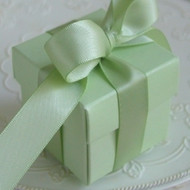 Pastel Mint Square Box with Lid (Set of 10)