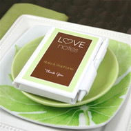 "Personalized ""Love Notes"" Notebook Favors"