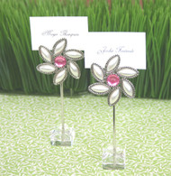 """Love Blooms"" Flower Place Card Holders (Set of 12)"