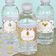 Personalized Metallic Foil Water Bottle Label