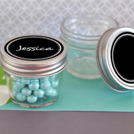 Small 4 oz. Mason Jar with Vinyl Chalkboard Label