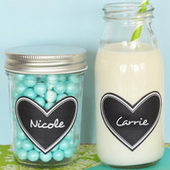 Heart Vinyl Chalkboard Labels (Set of 24)