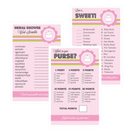 Pink Cake Bridal Shower Games (Set of 10)