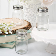 Perfectly Plain DIY Glass Mason Jar with Silver Metal Screw Top