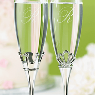 King and Queen Toasting Flute Set