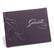 Swirls of Dots Purple Guest Book