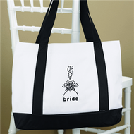 Black and White Bridesmaid Tote