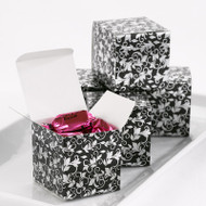 Black and Silver Foil Flourish Favor Boxes (Set of 25)