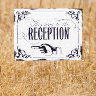 Vintage Wedding Reception Sign