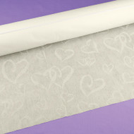 """Linked at the Heart"" Aisle Runner in Ivory"