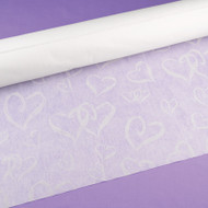 """Linked at the Heart"" Aisle Runner in White"