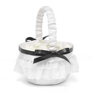 Peplum Flower Girl Basket