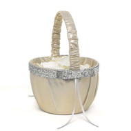 Gold and Silver Metallic Sparkle Flower Girl Basket