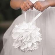 White Wild Flower Kissing Ball (Pomander)