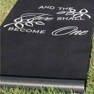 """And The Two Shall Become One"" Black Aisle Runner"