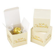 50th Anniversary Favor Boxes {Set of 25}