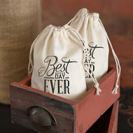 Best Day Ever Cotton Favor Bag