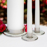 Vintage Pearl Candle Stand Set