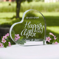 Happily Ever After Acrylic Cake Top