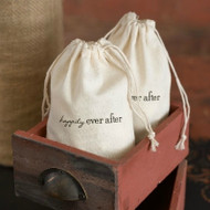 Happily Ever After Cotton Favor Bag