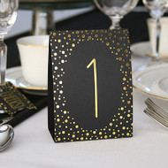 Gold Polka Dot Table Number Tent Cards (1-40)