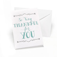 """So Very Thankful for You"" Thank You Cards (Set of 50)"