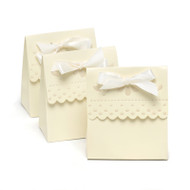 Ivory Scalloped-Edge Favor Boxes {Package of 25}