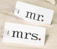 """Mr."" and ""Mrs."" Luggage Tag Set"