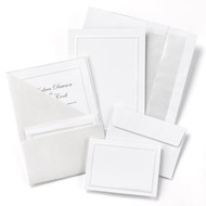 Silver Shimmer Folder Invitation Kit
