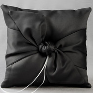 Love Knot Ring Pillow in Black