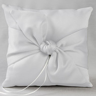Love Knot Ring Pillow in White